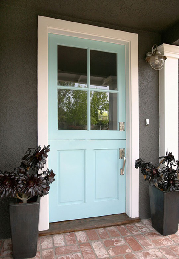 Turquoise Dutch Front Door With Blue Colors
