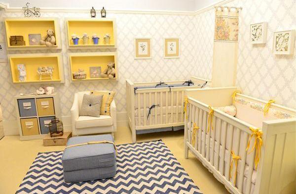 Yellow Twin Nursery Decor Ideas