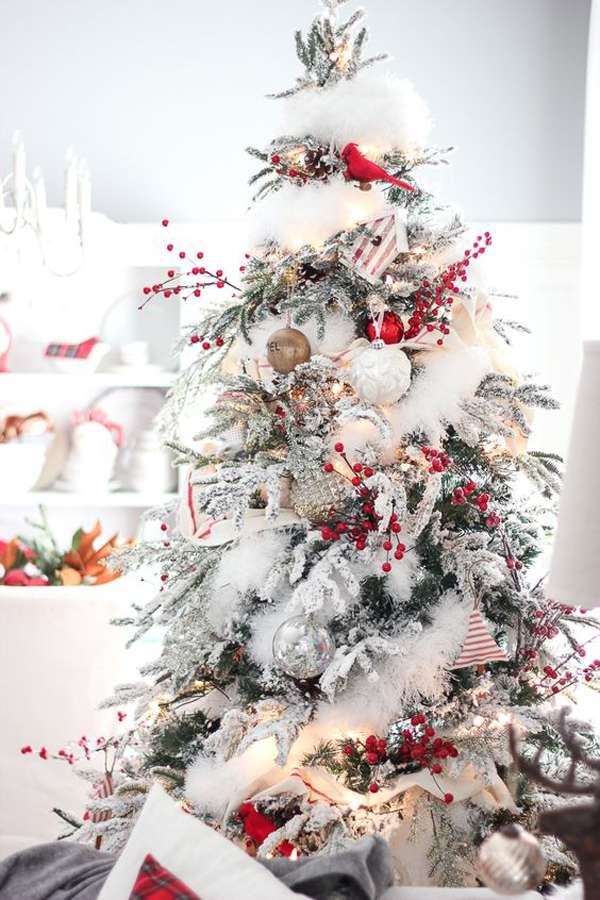 Can I Put My Christmas Decorations Up In November : Neutral and vintage white christmas tree ideas home