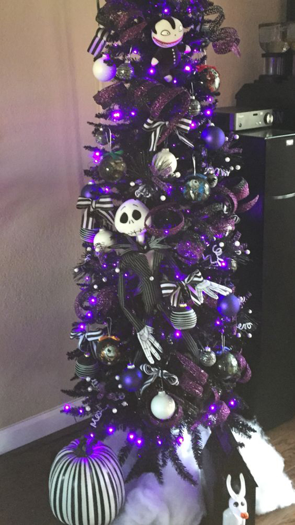 Black And Purple Christmas Tree Decor Home Design And Interior