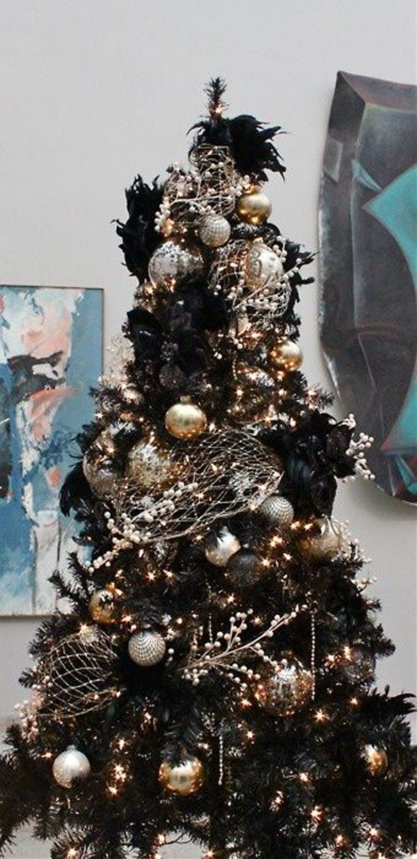 black christmas tree decor ideas