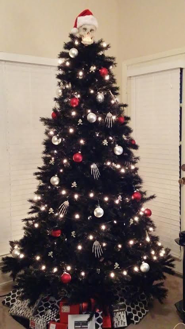20 black christmas tree with gothic style home design and interior