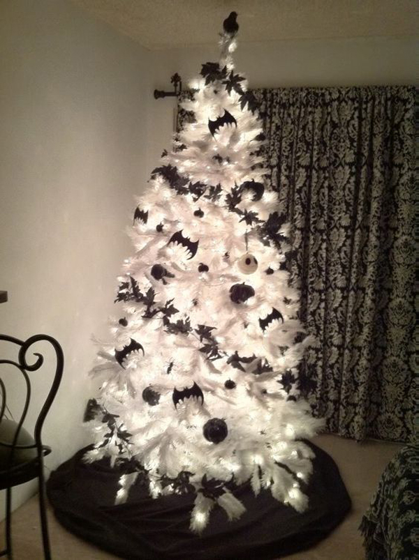 20 black christmas tree with gothic style