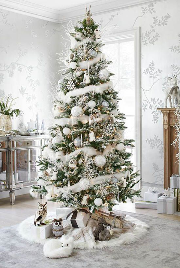 i have collected 35 white christmas tree ideas that will make your christmas a little differently this year maybe one of them is your choice - Decorating A Small White Christmas Tree