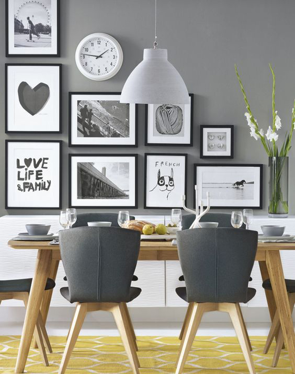 modern dining room wall decor. 25 Modern Dining Room Gallery Wall Ideas Decor R