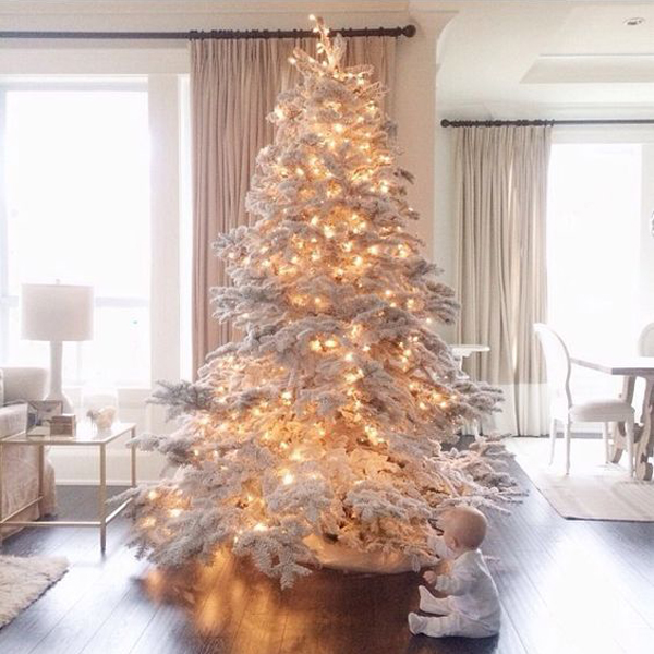 i have collected 35 white christmas tree ideas that will make your christmas a little differently this year maybe one of them is your choice - White Christmas Tree