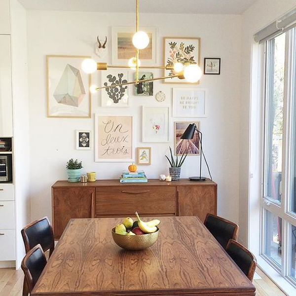 midcentury-dining-room-photo-frame-ideas