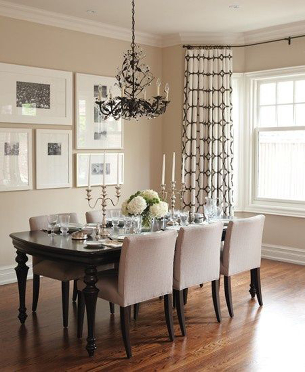 Dining Room Color Ideas: 25 Modern Dining Room Gallery Wall Ideas