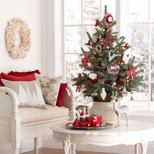 20 Simple Christmas Tree Display For Small Spaces | Home Design And Interior