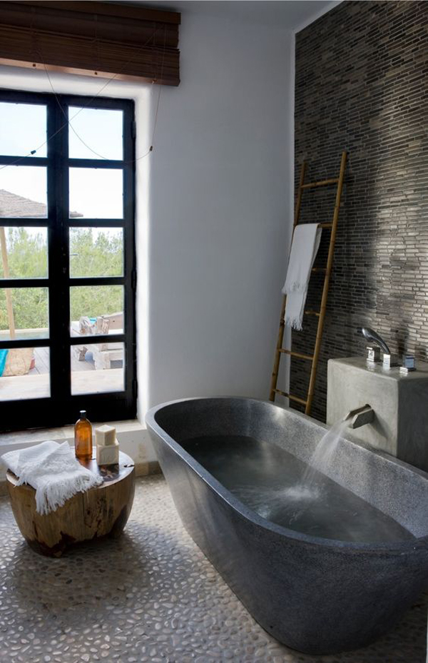 gallery of 25 rustic stone bathtub with natural accents