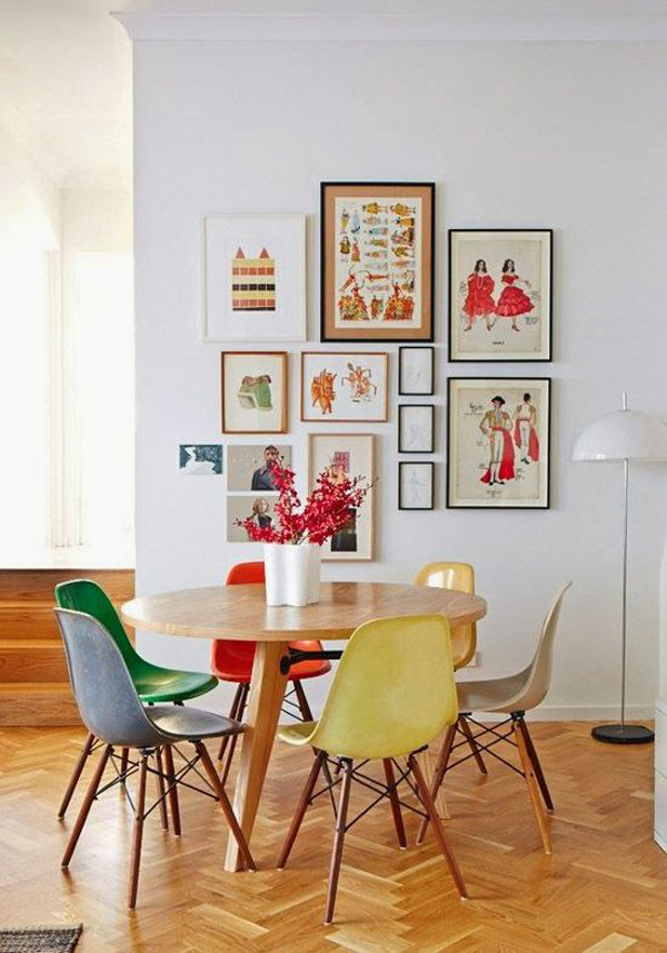 Small Dining Room Gallery Wall Ideas