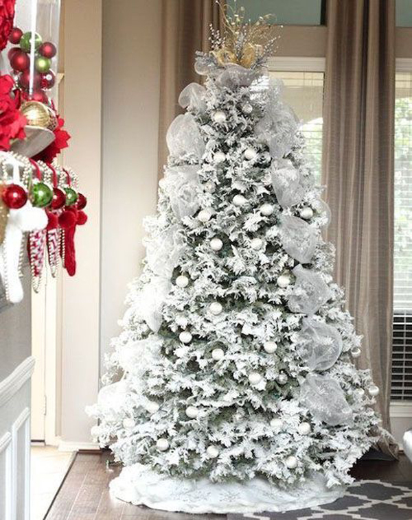 34 Neutral And Vintage White Christmas Tree Ideas | Home Design And ...