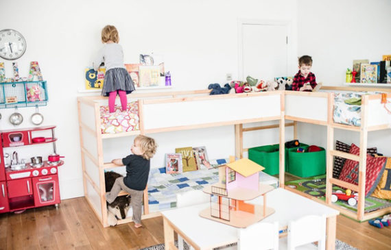 three-shared-kids-bedroom-with-ikea