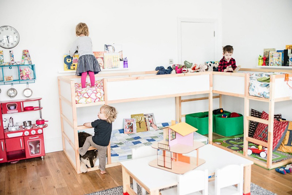 this bedroom for shared three children atticus 4 eleanor 3 and ike 1 and although it now has space for each child it seemed like the owners - Ikea Shared Kids Room