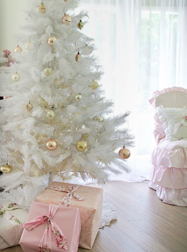 34 Neutral And Vintage White Christmas Tree Ideas Home