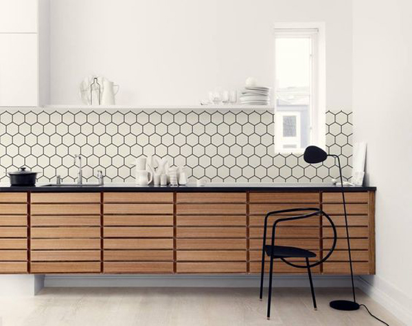 25 Stylish Hexagon Tiles For Kitchen Walls And Backsplashes Home Design Interior