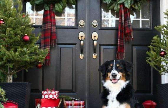 20 simple christmas front door with greenery ideas - Christmas Front Door