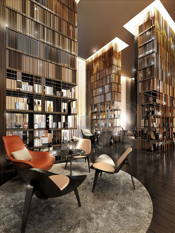 Modern Home Library Design modern-built-in-home-library-for-divider-design