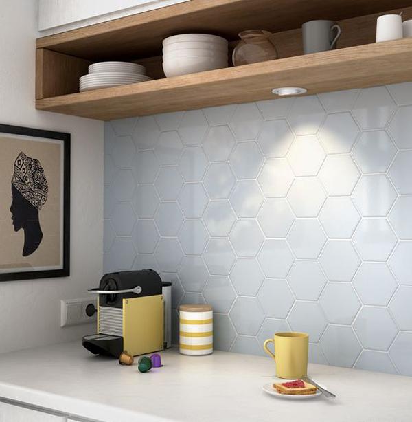 White Honeycomb Backsplash
