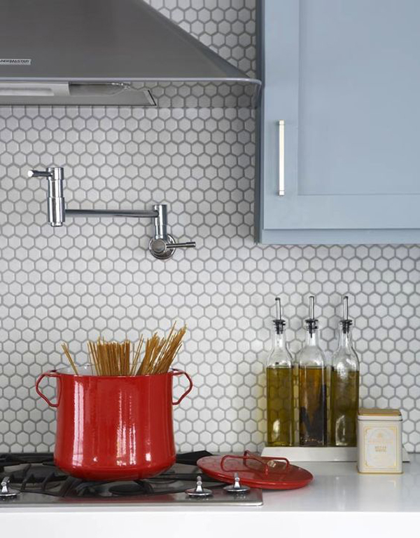 25 Stylish Hexagon Tiles For Kitchen Walls And Backsplashes Home Design And Interior