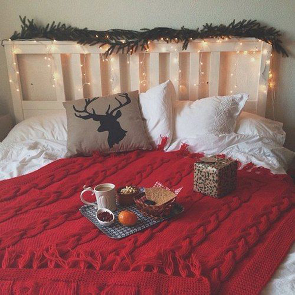 10 simple college bedroom for christmas decorations home design and interior - Christmas Room Decor