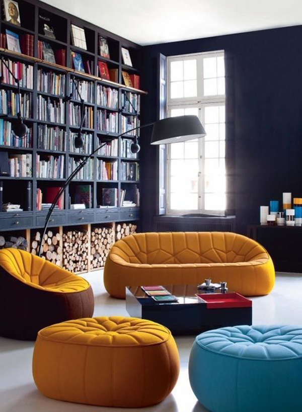 25 Modern Home Library Design For Casual Look