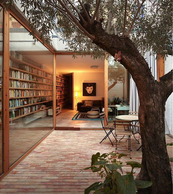 Cozy-Home-Library-With-Outdoor-View