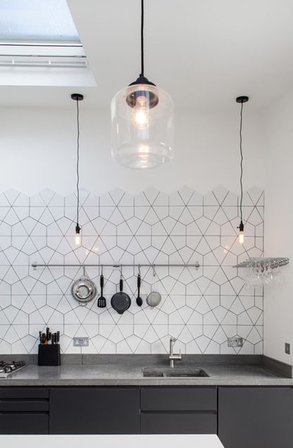 25 Stylish Hexagon Tiles For Kitchen Walls And Backsplashes | Home Design And Interior