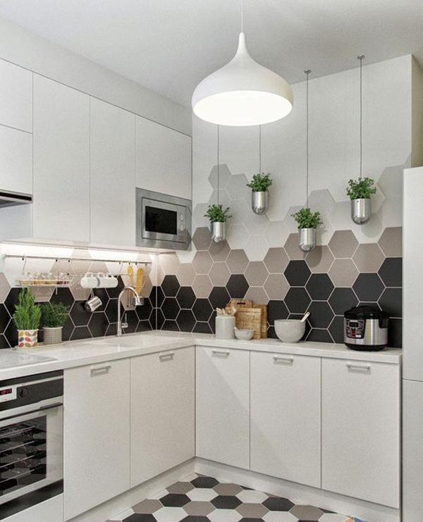 25 Stylish Hexagon Tiles For Kitchen Walls And ...