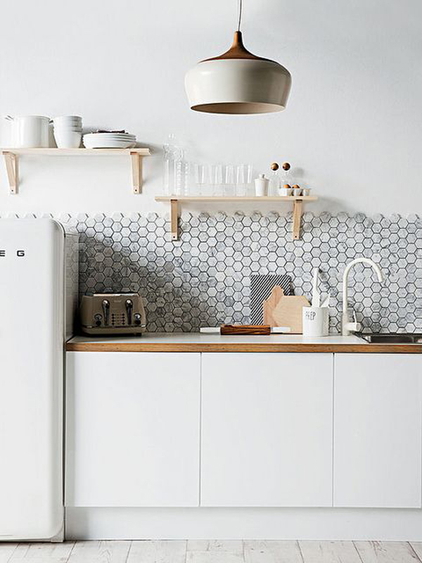 25 Stylish Hexagon Tiles For Kitchen Walls And Backsplashes Home