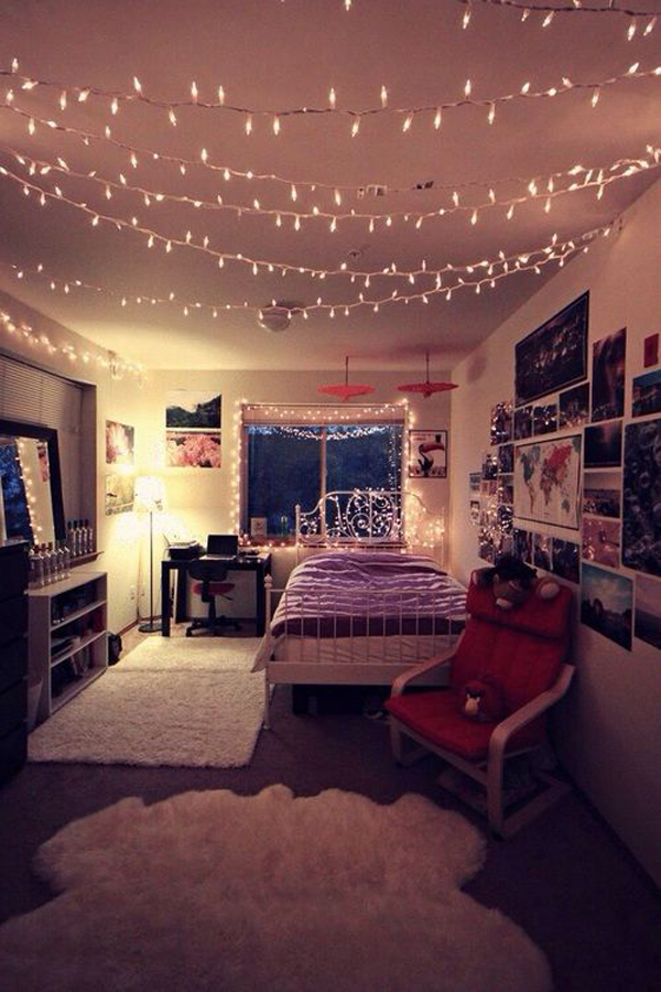 String Lights Are Ornaments That Must Exist For A Dorm Room, Rope Lights  Will Also Give You The Feel Of Romantic Christmas.