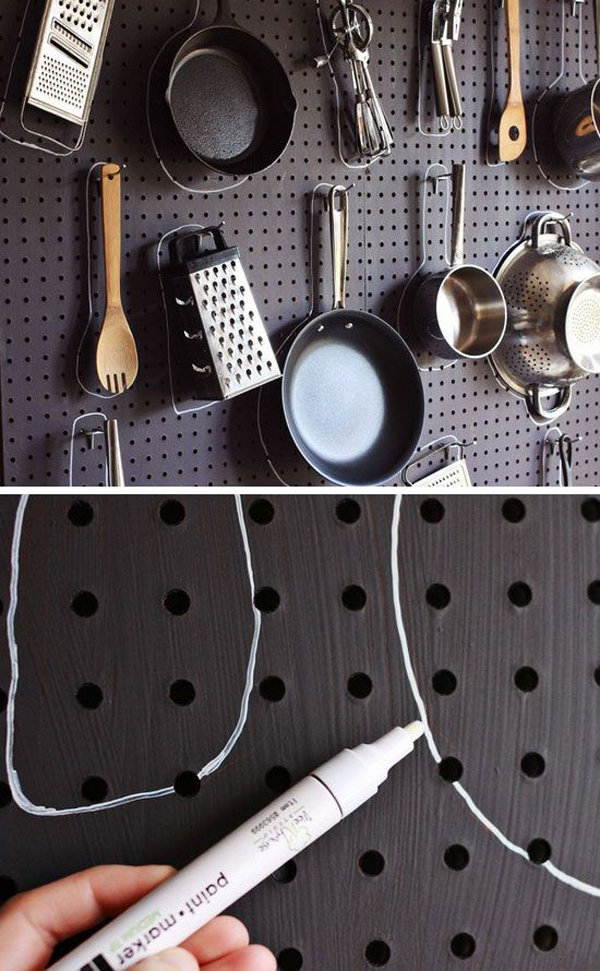 Cool Diy Kitchen Pegboards Home Design And Interior