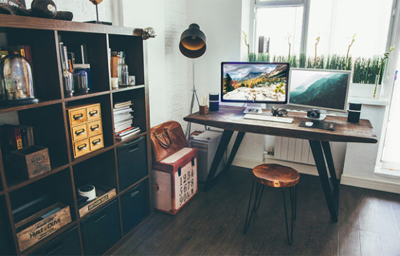 A New Workspace And Cool By Vadim Sherbakov, He Is A Interactive Art  Director And Digital Producer. Workspace Is Very Suitable For Men With  Todayu0027s ...