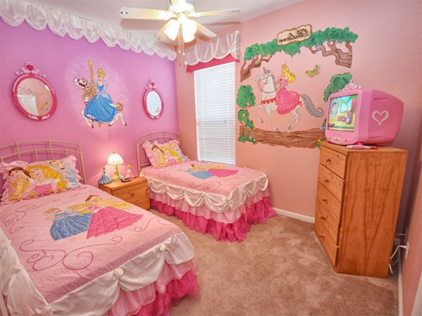 disney bedroom designs.  cute pink disney bedroom ideas