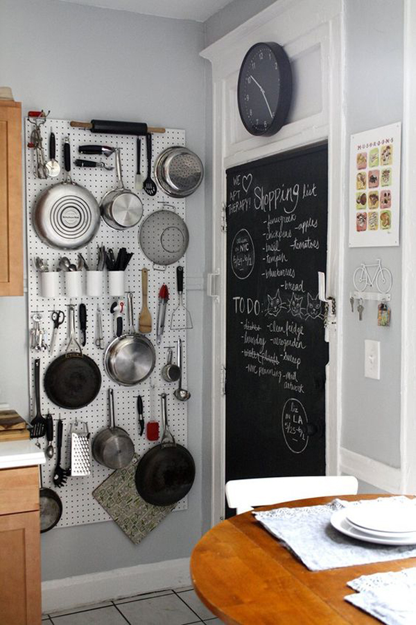 & diy-pegboard-kitchen-wall-storage