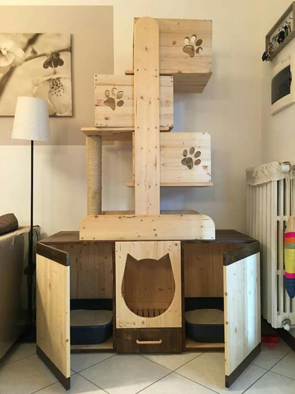 25 indoor cat tree ideas for play and relax home design. Black Bedroom Furniture Sets. Home Design Ideas