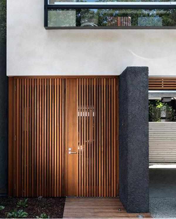 Modern Garage Doors In An Astonishing Protection: Modern-wood-screen-garage-doors