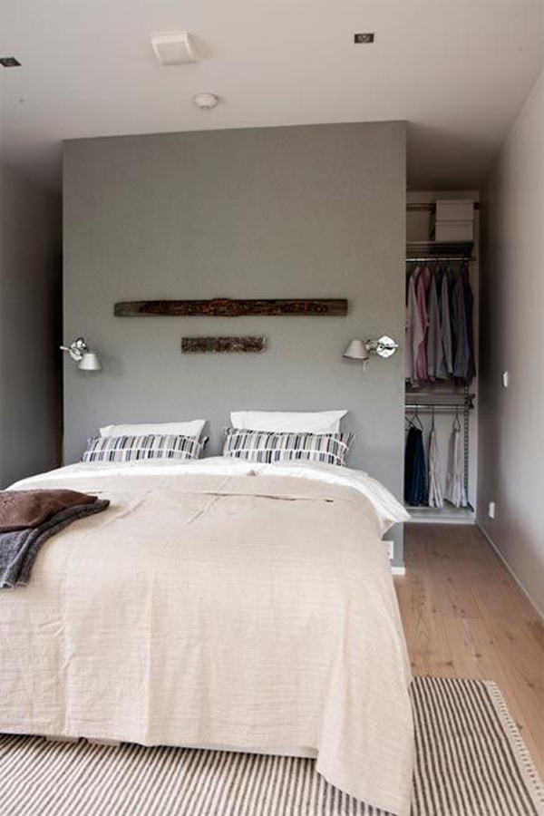 10 hidden closet ideas for small bedrooms home design and interior for Bedroom walk in closet designs