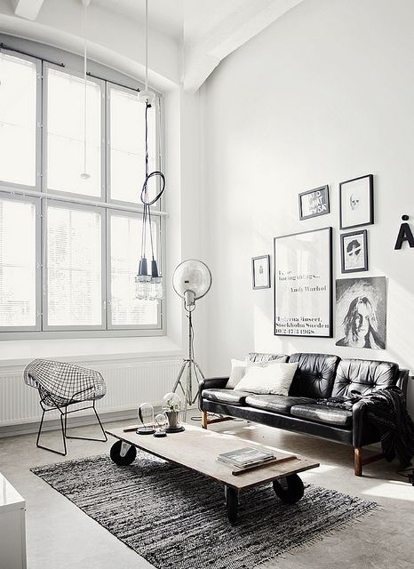22 Modern Living Room Ideas With Industrial Style | Home Design And Interior