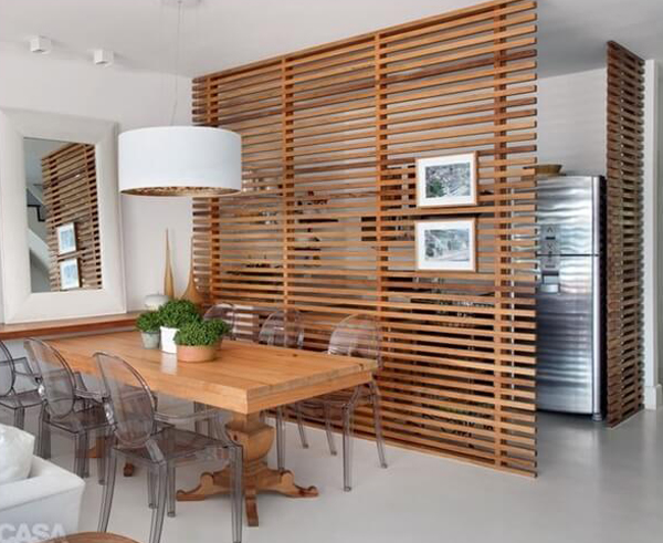 Wood Screen Dining Room Dividers