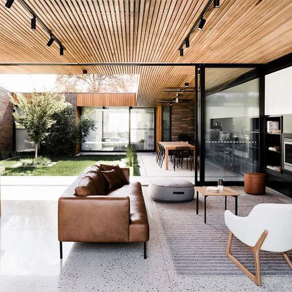 Wood Screen Indoor Roof Design Homemydesign