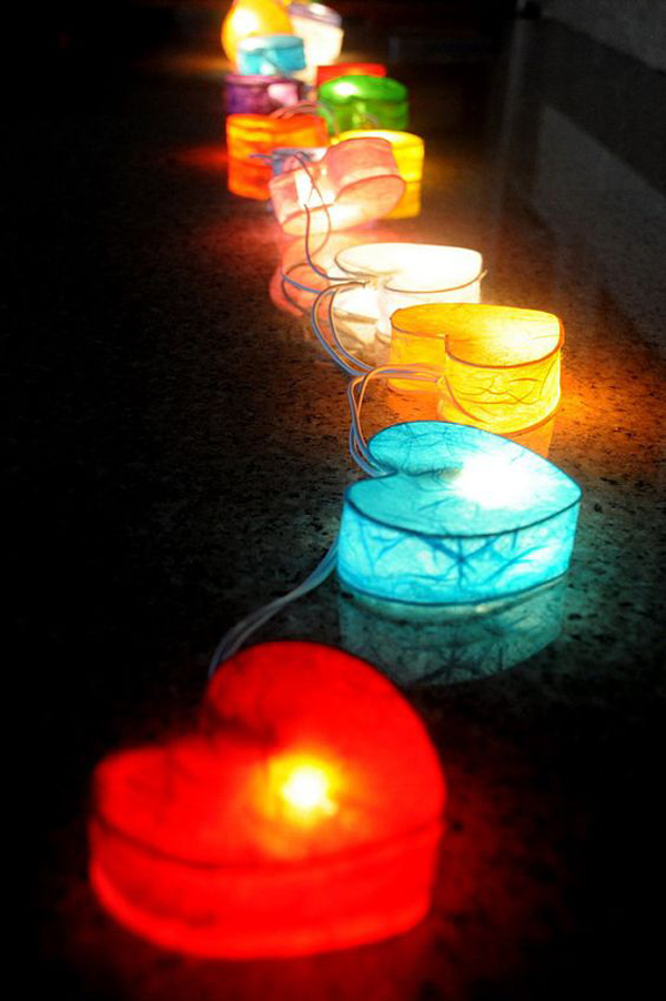 10 Magical And Romantic String Lights For Valentine Day's Home Design And Interior