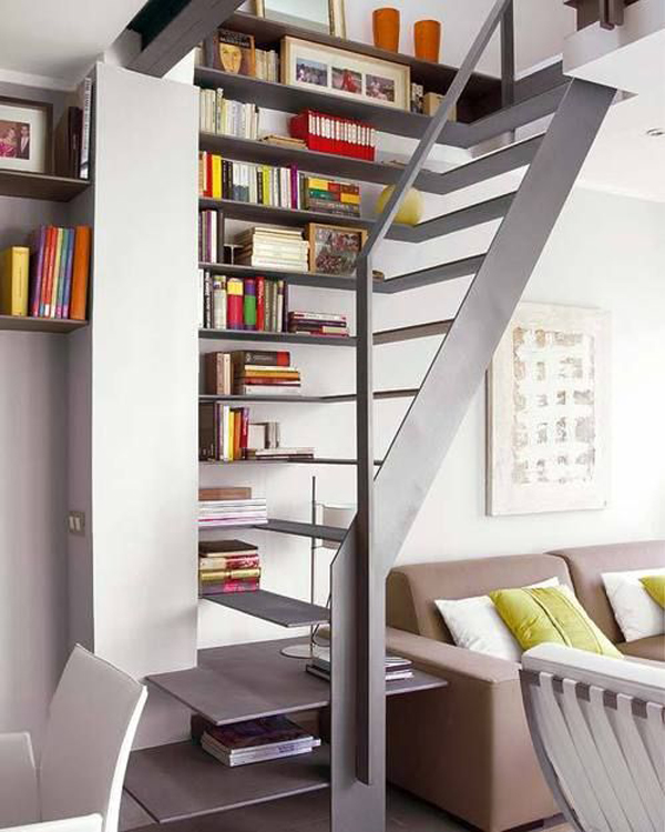 Home Design Ideas Book: 22 Cool Ways To Fill Your Stairs With Bookshelves