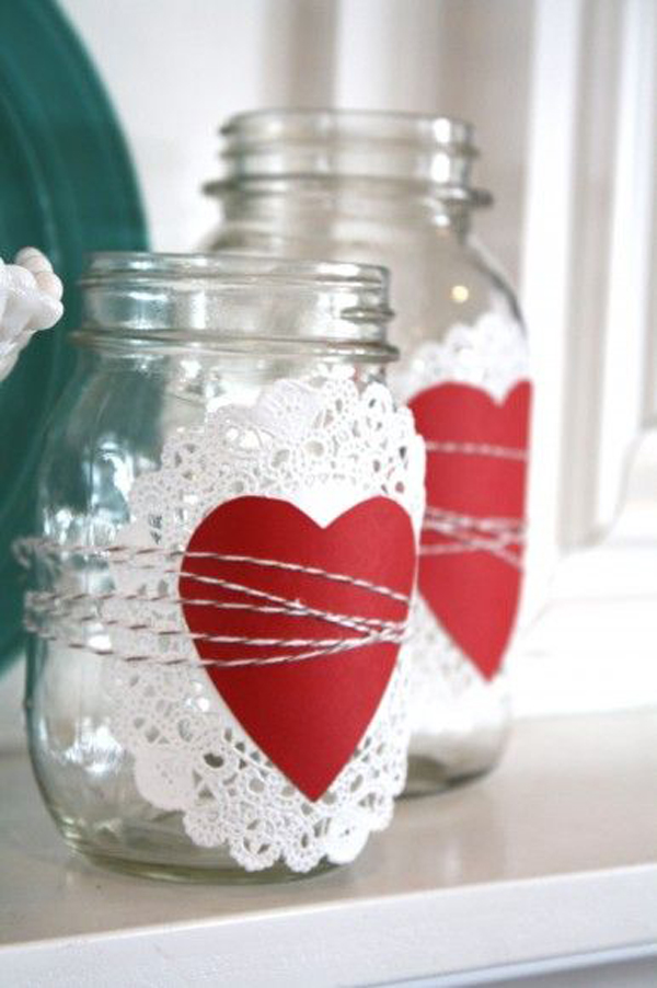 25 adorable diy valentine crafts for home decor home for Valentine decorations to make at home