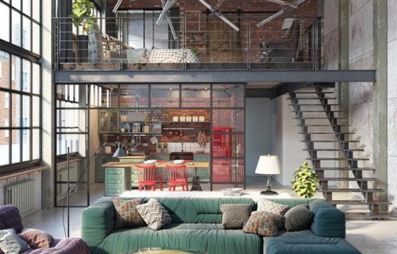 Innenarchitektur Industriellen Stil Karakoy Loft Innenarchitektur