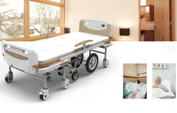 Good news for the elderly and paraplegic because now they can be assisted  with hybrid hospital bed design at the same innovative wheelchair.
