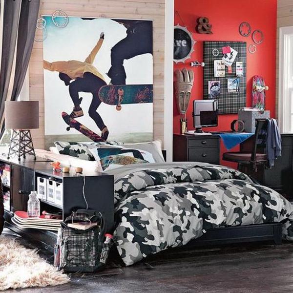 25 Modern Teen Boys' Room With Sport Themes