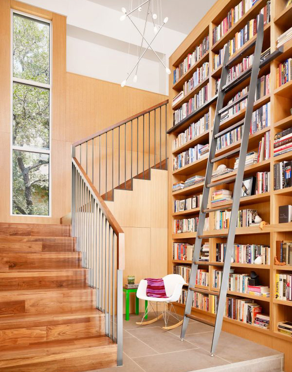 22 cool ways to fill your stairs with bookshelves home design and interior. Black Bedroom Furniture Sets. Home Design Ideas