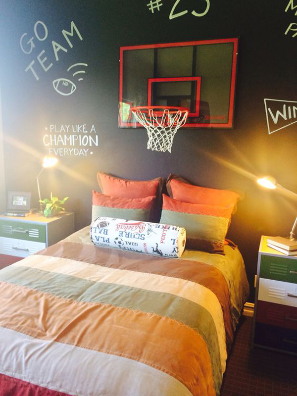 25 Modern Teen Boys Room With Sport Themes Homemydesign
