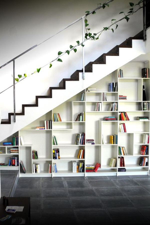 Etagere Ikea Billy Occasion ~ 22 Cool Ways To Fill Your Stairs With Bookshelves  Home Design And